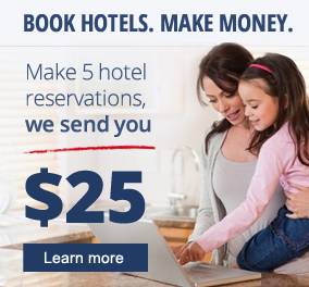 Earn Cash Rewards plus Hotel Reward Points