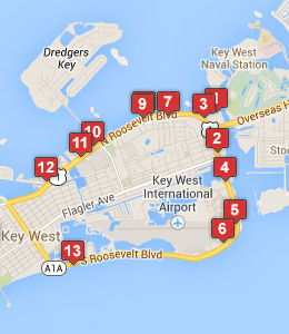 Map of NAS Key West lodging