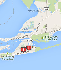 Map Of Hotels Near Naval Air Station Pensacola