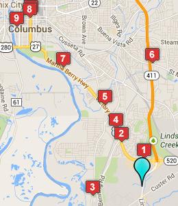 Map Of Georgia Hotels.Hotels Near Fort Benning Georgia Rouydadnews Info