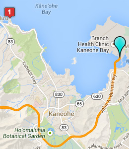 Map of MCB Hawaii lodging