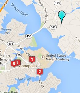 Map of Naval Station Annapolis lodging