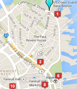 Map of USCG Sector Boston lodging