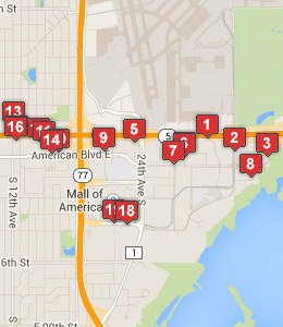 Map Of Hotels Near St Paul Air Reserve Station