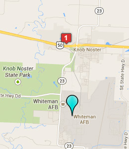 Map Of Hotels Near Whiteman Air Force Base