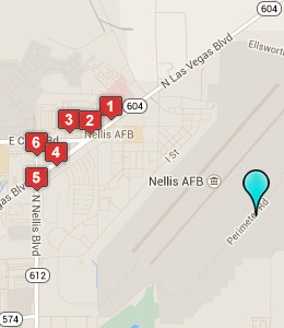 Map of Nellis AFB Lodging lodging