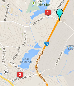Map Of Hotels Near Fort Jackson