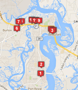 Hotels Near MCRD Parris Island See Military Discounts - Parris map