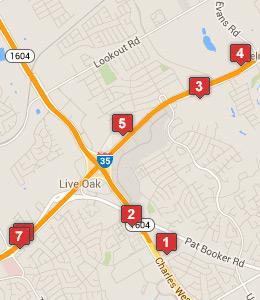 Map Of Hotels Near Randolph Air Force Base