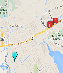 Map of Fort Belvoir lodging