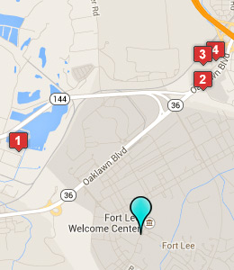 Map of Fort Lee lodging