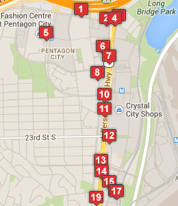 Map Of Hotels Near The Pentagon